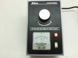 Nikon 0 10 Volt Microscope Light Source Illuminator Transformer