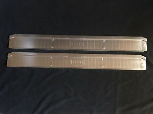 1959 Edsel 2 door Interior Sill Scuff Plates Acid Etched As Original New