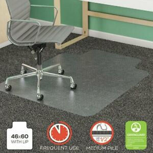 Deflecto Supermat Frequent Use Chair Mat 46 X 60 Med Pile Lip defcm14432f