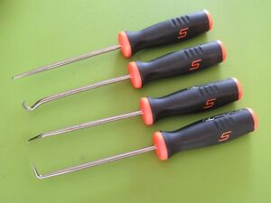 Snap On Black Orange Soft Grip Handle 4 Piece Pick Set Sg3ash90 45 Sg3asa