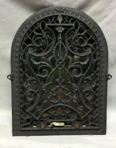 Antique Cast Iron Arch Decorative Heat Grate Wall Register 9x13 Vintage 130 19c