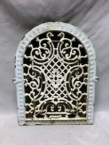 Antique Arched Top Heat Grate Maltese Cross Gothic Arch 9x13 131 19c