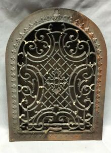 Antique Arched Top Heat Grate Maltese Cross Gothic Arch 8x12 132 19c