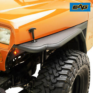 Eag Front Fender Flare Rocker Guard Textured Fits 87 96 Jeep Yj Wrangler