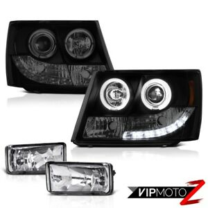 07 14 Chevy Tahoe Lt Ltz Led Daytime Headlight Front Driving Clear Glass Foglamp