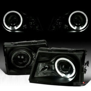 For Black Smoke 1998 2000 Ford Ranger Halo Projector Headlights Head Lamps 98 00