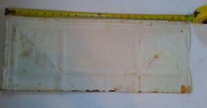 24 X 9 1 2 Antique Ceiling Tin Tile Reclaimed Metal Vintage Cutoff Shabby Chic