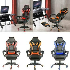 Racing Gaming Chair High Back Chair Ergonomic Design Computer Chair W footrest