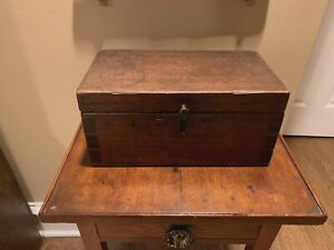 Primitive American Walnut Early 19th Century Document Box