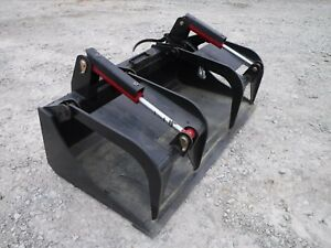 Bobcat Skid Steer Attachment 66 Heavy Duty Smooth Bucket Grapple Ship 199