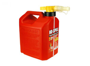 No spill 2 1 2 Gallon Gas Can red