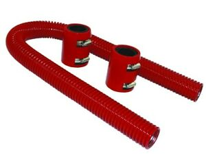 36 Stainless Steel Red Universal Radiator Hose Kit W End Caps Chevy Dodge Ford