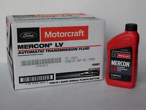 Motorcraft Mercon Lv Automatic Transmission Fluid Case Of 1qt Local Pick Up Only