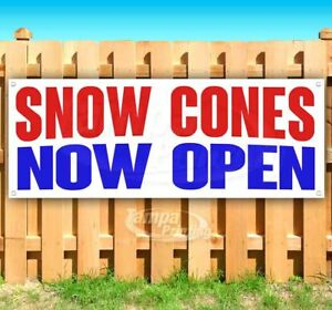 Snow Cones Now Open Advertising Vinyl Banner Flag Sign Many Sizes
