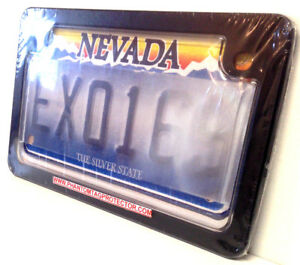 Motorcycle Red Light No Photo License Plate Cover With Black Metal Frame Combo