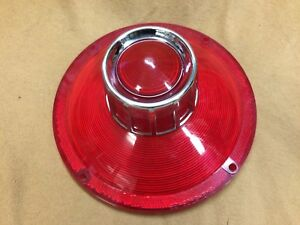 1963 Ford Galaxie Nors Stop And Tail Light Lens With Chrome Trim C3az 13450 A