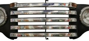 1948 1949 1950 Ford Pickup Truck Stainless Grill Bar Trim Set W O Crankhole