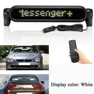 12v Car Electronic Scrolling Message Adver White Led Display With Remote Control
