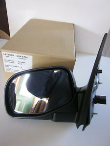New 2002 2003 Ford Explorer Mountaineer Lh Power Side View Mirror Black