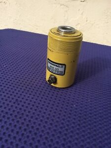 Enerpac Holl o ram Hydraulic Cylinder Rch 121 Single Acting 12 Ton Works Good