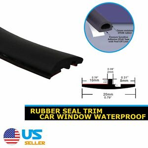 360 Auto Seal Trim Windshield Sunroof Front Rear Window Triangular Gap Rubber