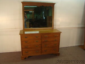 50821 Ethan Allen Solid Maple Dresser W Mirror