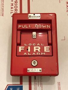 notifier Coded Fire Alarm Pull Station Box Alarm Vintage Collectable Rare