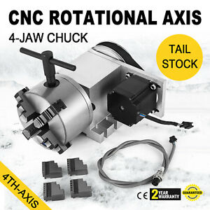 Cnc Router Rotational Rotary Axis 4 jaw Superior Self centering High Performance