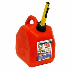 2 Gallon Spill proof Gas Can Container ab10s Midwest Spout Red Scepter