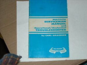 Multilith Serviceman Manual Operational mechanical Troubleshooter