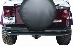 Rampage Tube Bumper Black With Receiver Hitch 1987 2006 Jeep Wrangler Yj tj 7648