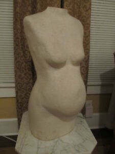 Vintage Maternity Pregnant Mannequin Dress Form