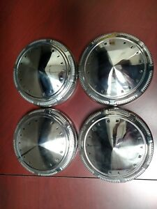 1970 Plymouth Poverty Caps Dog Dish Hub Cap Set Of Four