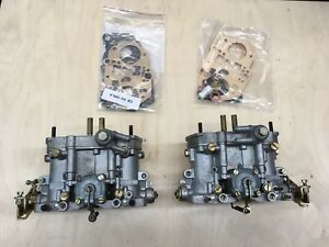 Volkswagen Vw Porsche Dellorto Drla 36 Dual Throat Carburetors With Rebuild Kits