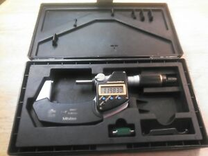 Mitutoyo 293 186 Digital Micrometer 1 2 Range 0 00005 0 001mm Resolution