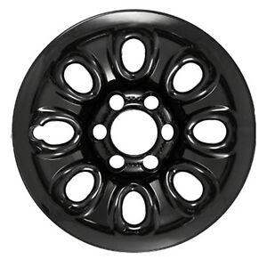 17 X 7 5 8 Hole Refurbished Oem Chevrolet Steel Wheel Black Painted 8069