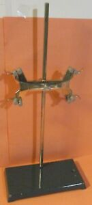 Laboratory Ring Stand 24 Tall Cenco Fisher Double Buret Holder