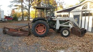 1975 Deutz Diesel Tractor With Front Loader And Bush Hog