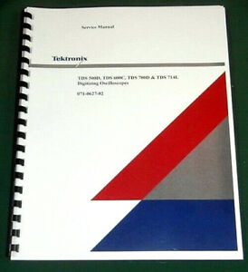 Tektronix Tds 500d Tds 600b Tds 700d Service Manual Comb Bound Plastic Covers