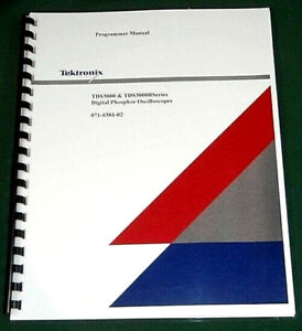 Tektronix Tds3000 3000b Series Programmer Manual Comb Bound Plastic Covers