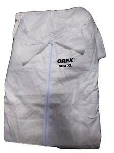 New Orex Suits Size Xl Coveralls White Zipper Front 25 Qty
