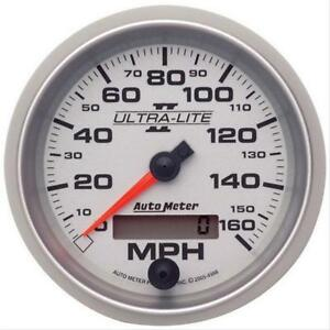 Autometer Ultra Lite Ii Analog Speedometer 0 160 Mph 3 3 8 Dia Electrical 4988
