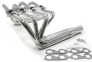 Patriot Roadster Sprint Style For T bucket Headers Silver Ceramic Coated 1 7 8