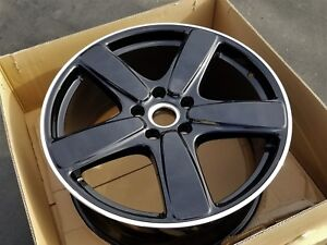 New 21 Porsche Cayenne Oem Factory Sport Classic Ii Black Wheel Rim Turbo Gts