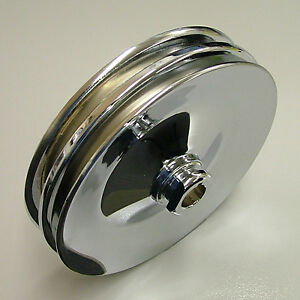 Speed 8947 Power Steering Pulley Chrome Chevy 2 V Keyway Style