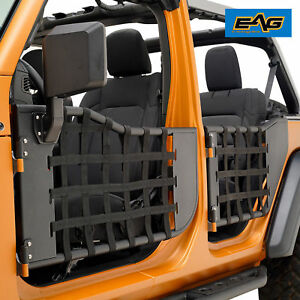 Eag 18 19 Jeep Wrangler Jl 4 Door Matrix Steel Tube Door With Side View Mirror