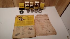 Vintage Lot Of 5 John Deere Oem Bushing Parts In Boxes Plus 1940 s Jd Catalog
