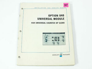 Hp 5328a Opt 040 Universal Module For Universal Counter Install