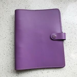 Filofax A5 Original Planner Lilac Leather 022399 Great Condition Made In Uk