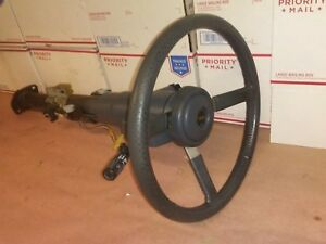 1992 Jeep Cherokee Comanche Steering Column With Wheel Key Manual Trans